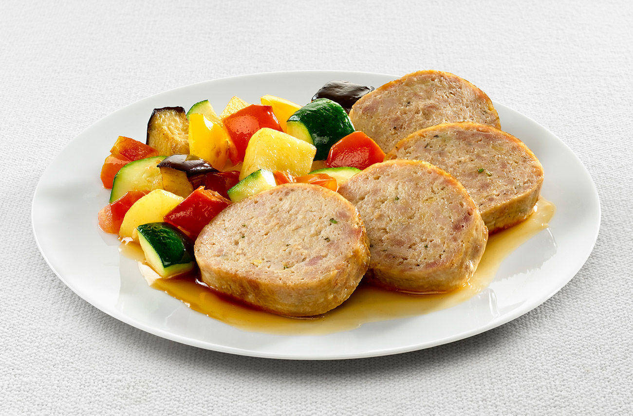 Meatloaf classic and vegetables