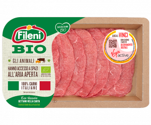 Thinly-sliced organic beef fillets