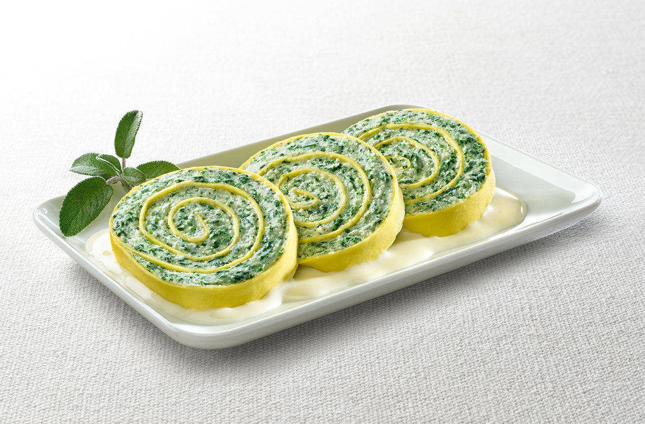 Ricotta and spinach wheels