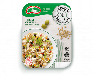 3 grain salad with tuna and chicken