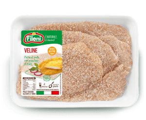 Breaded veline with corn flour